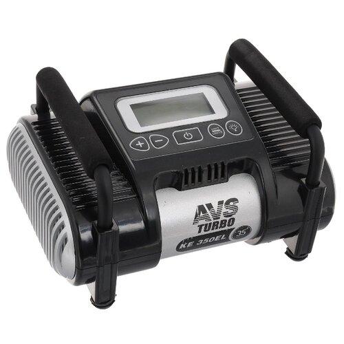 Автомобильный компрессор AVS KE350EL черный автомобильный компрессор avs ks450l серый