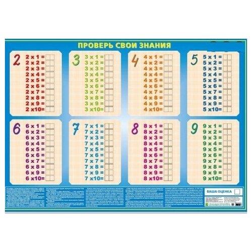 Купить Таблица умножения - проверь свои знания. Учебное пособие с комплектом маркеров (4 цвета), РУЗ Ко, Учебные пособия