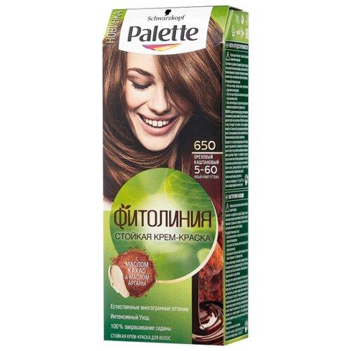 Palette Фитолиния Стойкая крем-краска для волос, 650 5-60 Ореховый каштановый palette краска д волос perfect mousse 607 бронзовый светло каштановый
