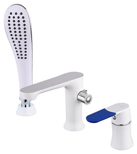 Смеситель для ванны с душем Frap H34 F1134 однорычажный встраиваемый лейка в комплекте двухцветный