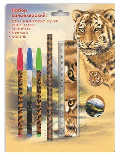 Канцелярский набор Феникс+ Тигр 38027, 7 пр.