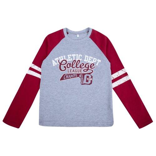 Купить Лонгслив Leader Kids размер 140, красный/серый меланж, Футболки и майки