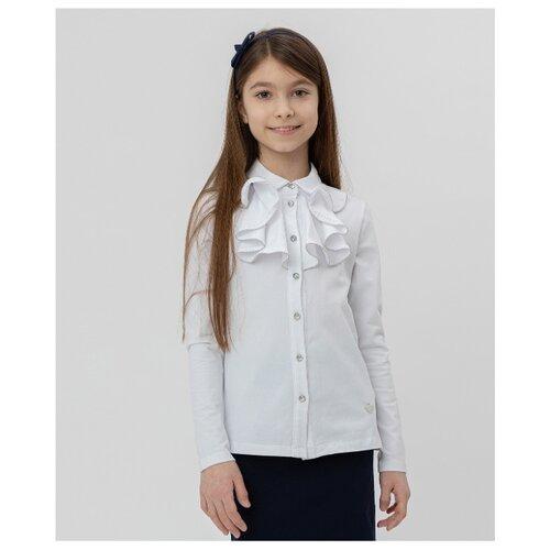 Блузка Button Blue размер 164, белый, Рубашки и блузы  - купить со скидкой