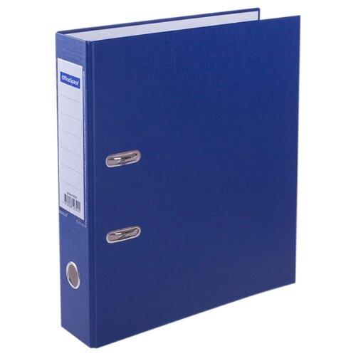 Купить OfficeSpace Папка-регистратор с карманом на корешке A4, бумвинил, 70 мм синий, Файлы и папки