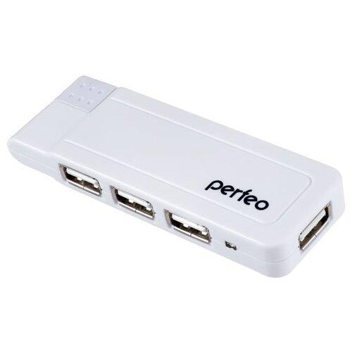 USB-Концентратор Perfeo 4 Port, (PF-VI-H021 White) белый