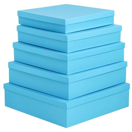 Набор подарочных коробок Мишель Фокс Голубой №14, 5 шт. голубой