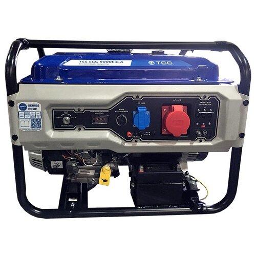 Фото - Бензиновый генератор ТСС SGG 9000E3LA (8000 Вт) бензиновый генератор тсс sgg 5000 eh 5000 вт