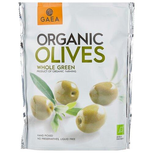 Gaea Оливки Organic в маринаде с косточкой, пластиковый пакет 150 г