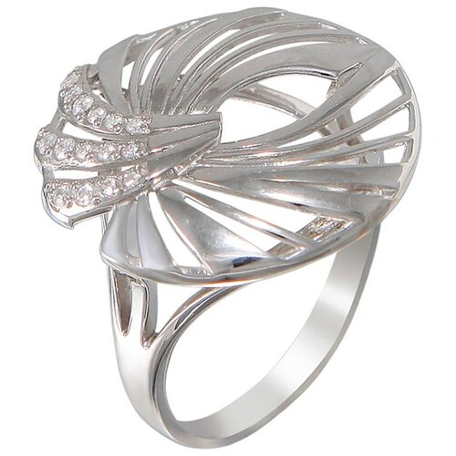 Эстет Кольцо с 15 фианитами из серебра Н11К152674, размер 17 ЭСТЕТ