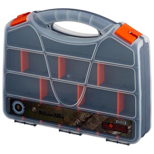 Органайзер BLOCKER World of Tanks BR5003 32x26x7 см 32'' серо-свинцовый/оранжевый ящик для инструментов blocker world of tanks br5016срсвцор 51 х 26 х 22 см