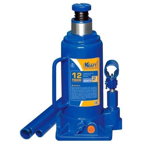 Домкрат бутылочный гидравлический KRAFT КТ 800019 (12 т) синий