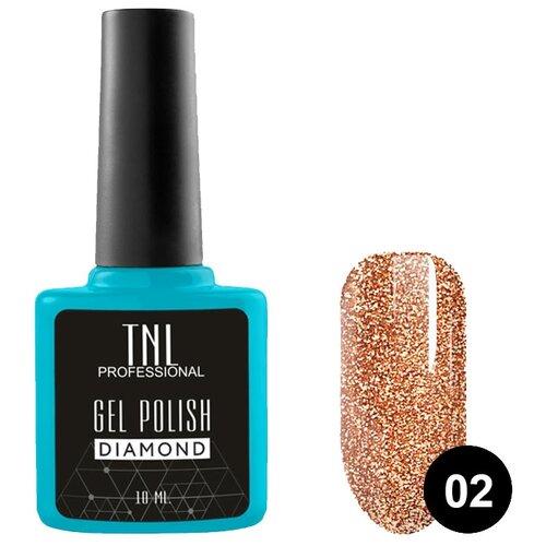 Купить Гель-лак для ногтей TNL Professional Diamond, 10 мл, оттенок №02 Топаз