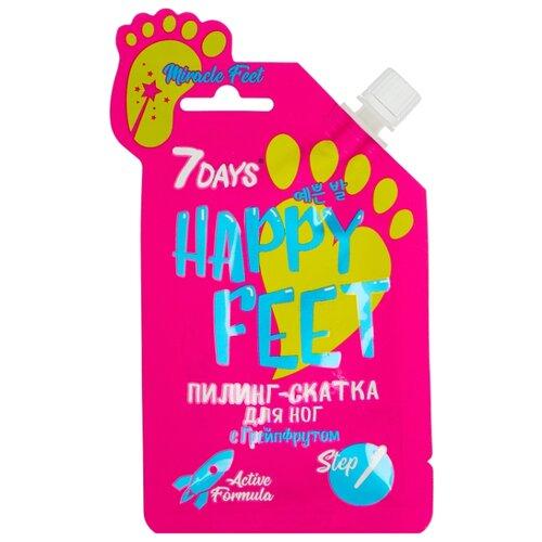 7DAYS Пилинг-скатка для ног c грейпфрутом Happy Feet Miracle Feet, 25 г пилинг скатка для ног bioaqua