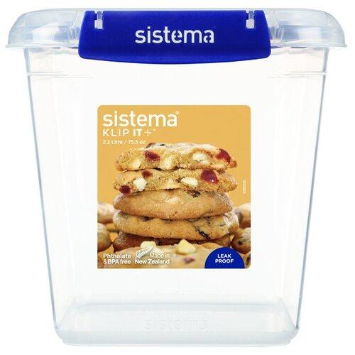 контейнер для печенья sistema 1 8 л 1333 Контейнер для печенья Sistema KLIP IT+ 2,2 л, 881334