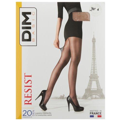 цена Колготки DIM Basic Resist 20 den, размер 4, телесный (бежевый) онлайн в 2017 году