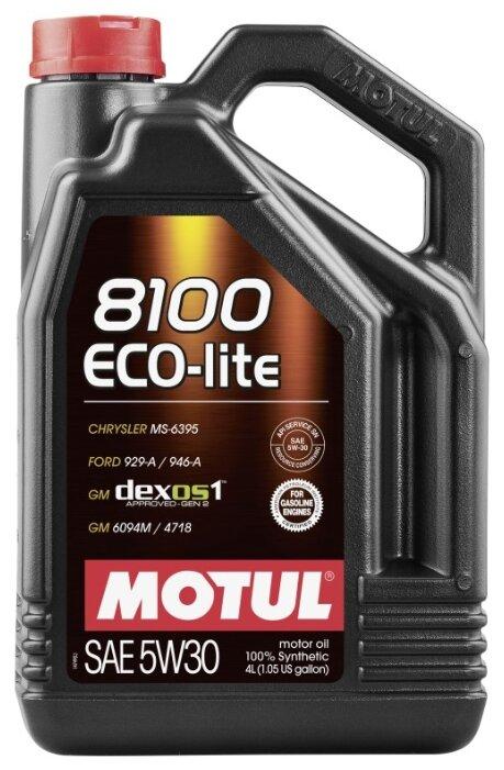 Моторное масло Motul 8100 Eco-lite 5W30 4 л — купить по выгодной цене на Яндекс.Маркете