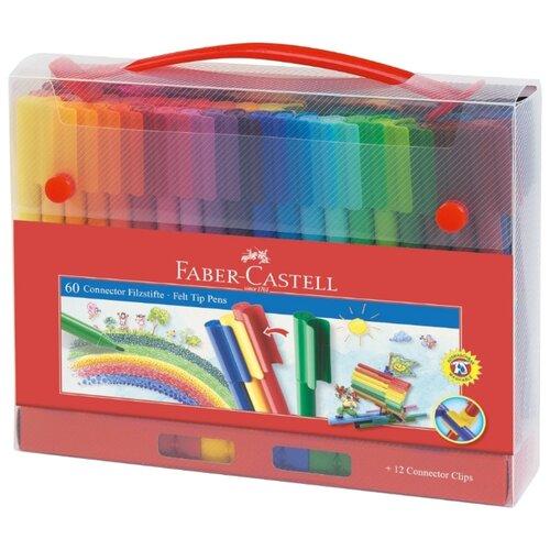 Купить Faber-Castell Набор фломастеров Connector, 60 шт. (155560), Фломастеры и маркеры