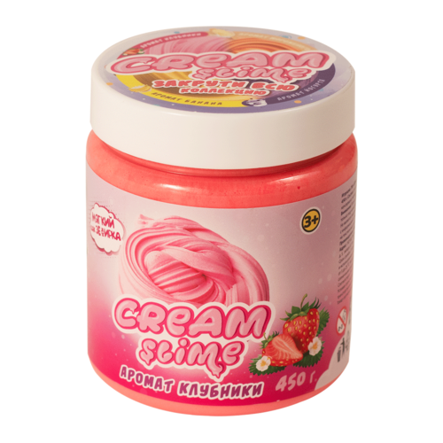 Жвачка для рук SLIME Cream аромат клубники (SF05-S) розовый