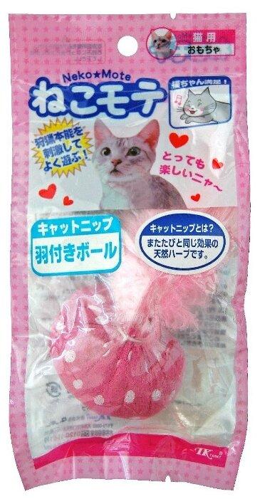 Мячик для кошек Japan Premium Pet с перьями и кошачьей мятой