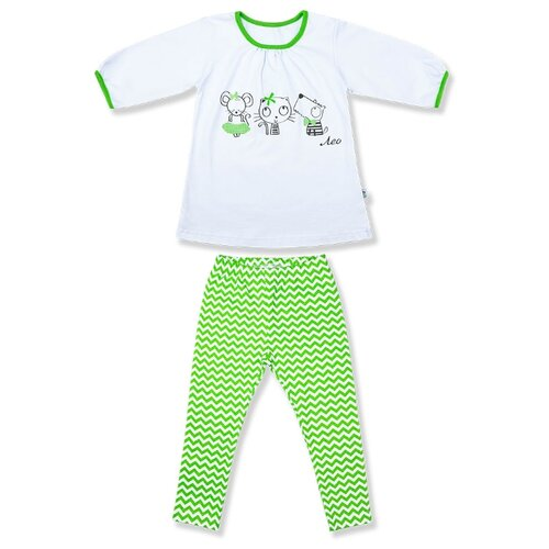 Пижама LEO размер 80, салатовый