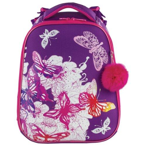 Купить BRAUBERG Рюкзак Premium Бабочки (227811), фиолетовый, Рюкзаки, ранцы