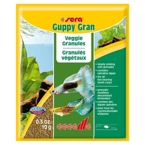 Сухой корм для рыб Sera Guppy gran 10 г корм сухой prodac algae wafer mini для аквариумных пресноводных рыб в таблетках 135 г