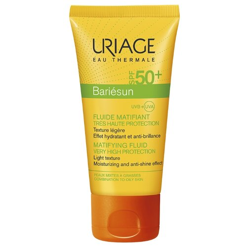 Uriage эмульсия Bariesun матирующая, SPF 50, 50 мл uriage барьесан матирующая эмульсия spf50 50 мл uriage bariesun