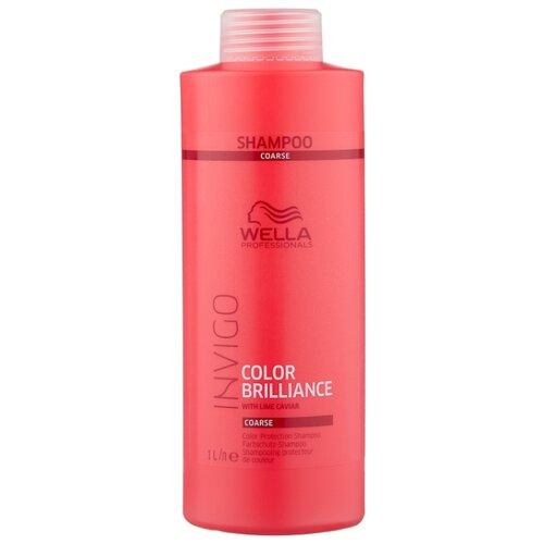 Wella Professionals шампунь Invigo Color Brilliance для жестких волос 1000 мл wella professionals age line укрепляющий шампунь для ослабленных волос 250мл