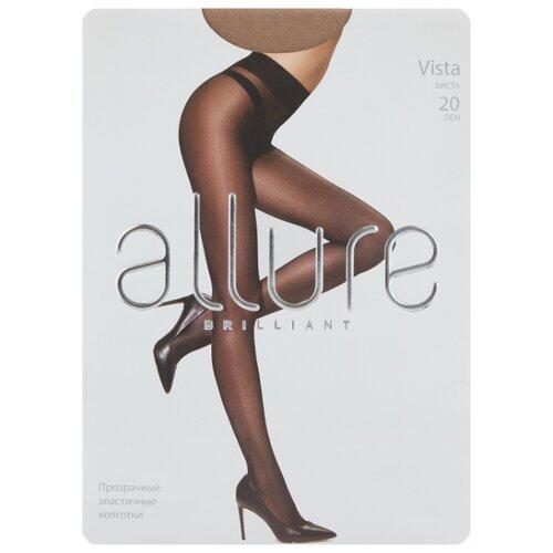 Колготки ALLURE Brilliant Vista 20 den, размер 4, caramello (бежевый) колготки 20 den черн allure