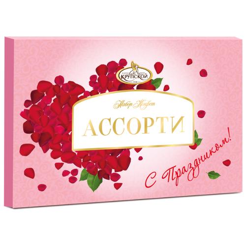 Набор конфет Фабрика им. Крупской в темном и молочном шоколаде, 249 г