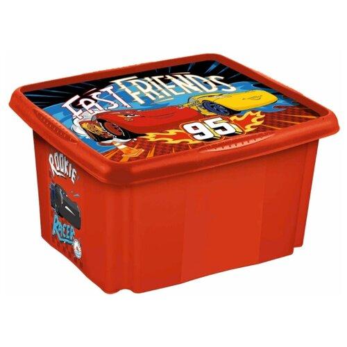 """Ящик для игрушек deco-box Keeeper paulina """"cars"""" 45 л"""