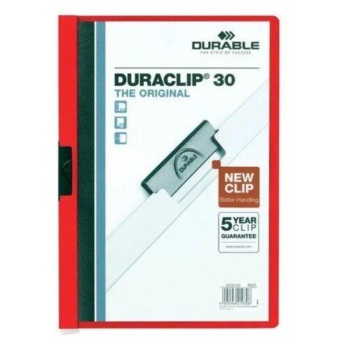 DURABLE Папка-скоросшиватель Duraclip А4, 30 листов красный