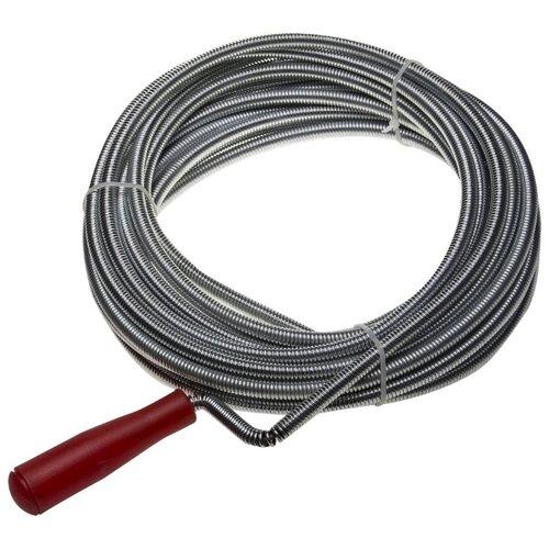 Сантехнический трос 10 м ЗУБР Мастер 51902-10 серебристый/красный