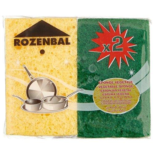 Губка ROZENBAL с абразивным покрытием 2 шт rozenbal металлический 44 см с итальянской резьбой