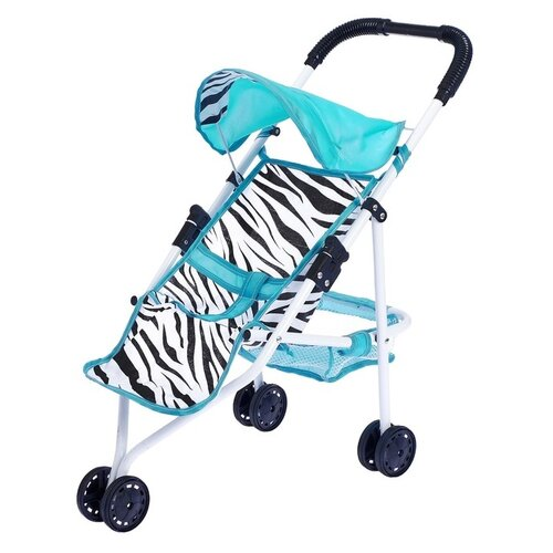 Прогулочная коляска S+S Toys Like in life 200100697 мятный/зебра коляска прогулочная capella s 803wf сибирь лайм gl000984336
