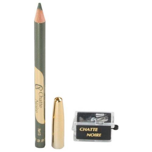 Chatte Noire Набор карандаш для глаз Kajal и точилка, оттенок N423 хаки chatte noire карандаш для глаз 10