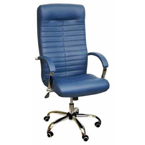 Компьютерное кресло Креслов Орион КВ-07-130112, обивка: искусственная кожа, цвет: синий кресло компьютерное креслов орман кв 08 130112 0453