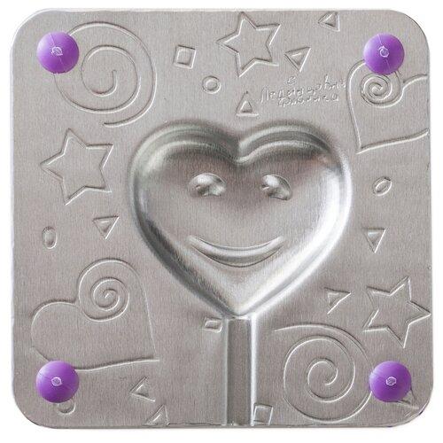 Форма для леденцов Леденцовая фабрика Сердечко (0017) серебристый