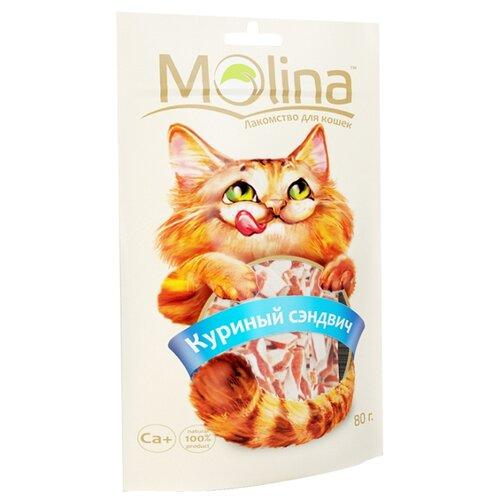 Лакомство для кошек Molina Куриный сэндвич, 80г