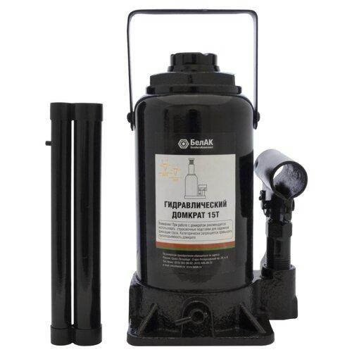 Домкрат бутылочный гидравлический БелАвтоКомплект БАК.00047 (15 т) черный