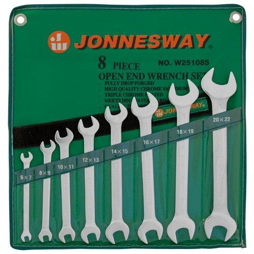 Набор гаечных ключей JONNESWAY (8 предм.) W25108S серебристый набор гаечных ключей kroft 8 предм 210108 серебристый