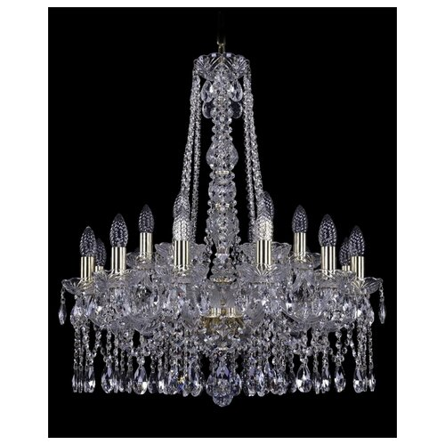 Фото - Люстра Bohemia Ivele Crystal 1413 1413/12+6/220/h-73/G, E14, 720 Вт люстра bohemia ivele crystal 1413 18 400 g e14 720 вт