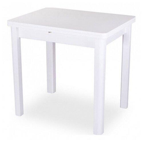 Фото - Стол кухонный Домотека Дрезден М-2 04, раскладной, ДхШ: 60 х 80 см, длина в разложенном виде: 120 см, БЛ белый 04 белый стол домотека танго по бл ст 71 07 вп бл