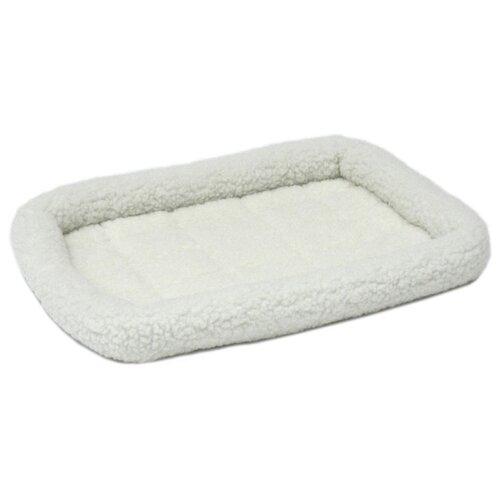 Лежак для собак и кошек Midwest QuietTime Deluxe Fleece Bolster 58х45х8 см белый