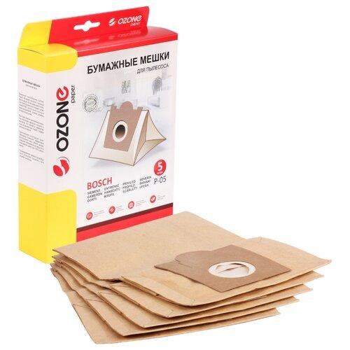 Фото - Ozone Бумажные пылесборники P-05 5 шт. topperr бумажные пылесборники sm5 5 шт