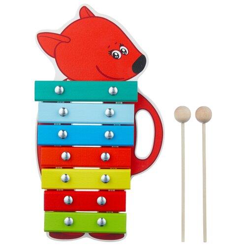 Купить Alatoys ксилофон Лисичка BBW007 красный/голубой/зеленый, Детские музыкальные инструменты