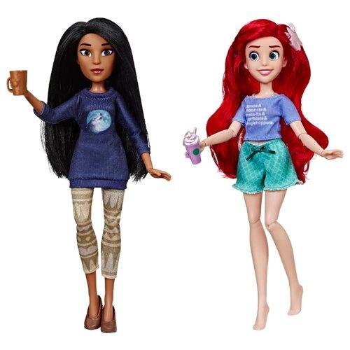 Набор кукол Hasbro Disney Princess Ральф против интернета Ариэль и Покахонтас, 28 см, E7413 игрушка hasbro кукла princess disney модная ариэль e83975x0