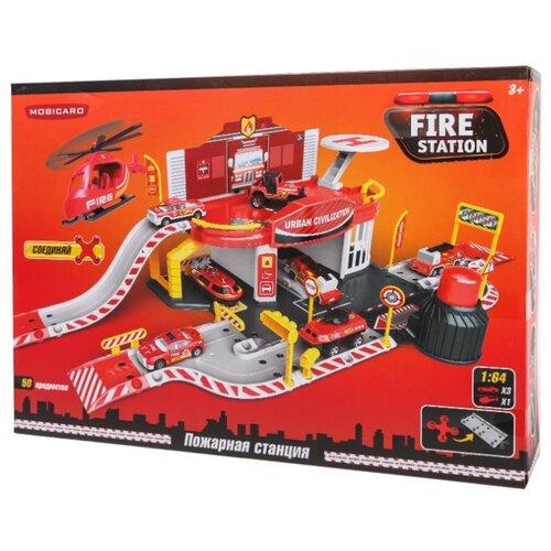 Купить Mobicaro Пожарная часть YS190236 красный/желтый/черный/серый, Детские парковки и гаражи
