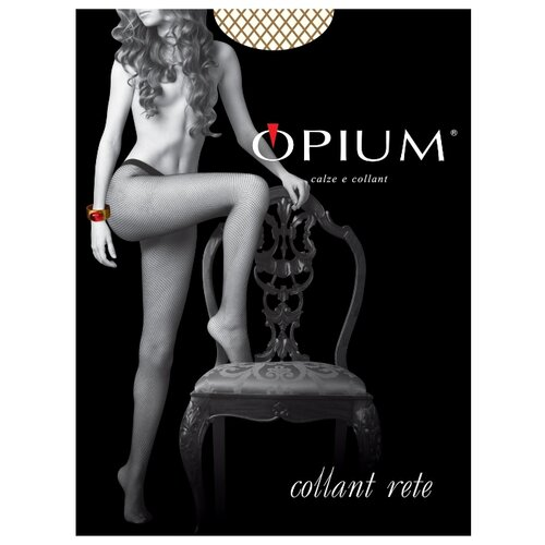 Колготки Opium Collant Rete, размер 2, visone (бежевый) колготки opium comfort 20den 2 visone
