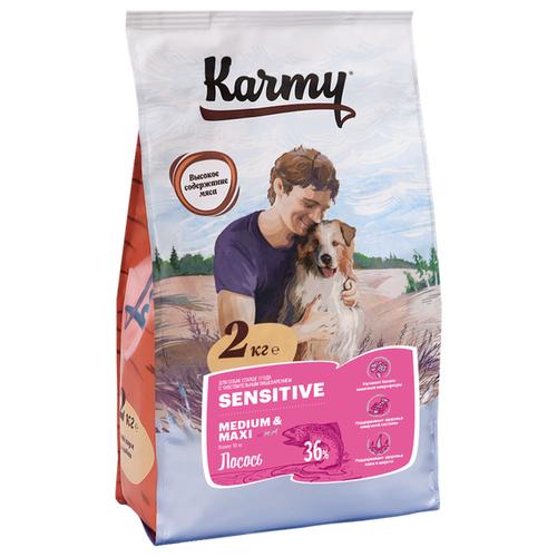 Сухой корм для собак Karmy для здоровья кожи и шерсти, лосось 2 кг сухой корм для собак karmy для здоровья кожи и шерсти лосось 2 кг